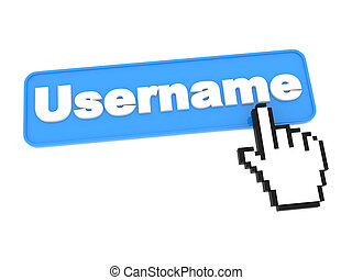 Username - Web Button. Isolated on White Background.