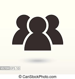 Users flat Icon. Sign User