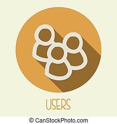 users icon design
