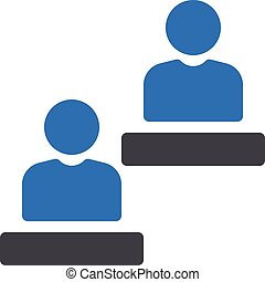 users vector glyph colour icon