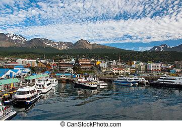 Ushuaia, Tierra del Fuego Province, Argentina - Boats fill ...