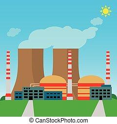 usine, bâtiment industriel