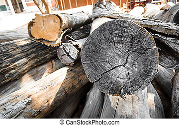 usine, bois construction