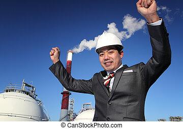 usine chimique, industriel, ingénieur