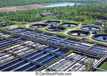 usine eau, eaux égout