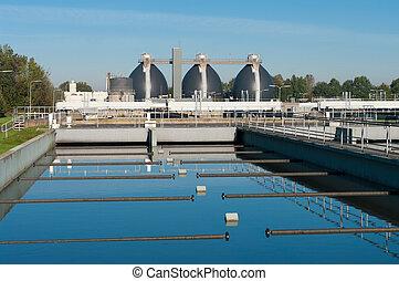 usine eau, gaspillage
