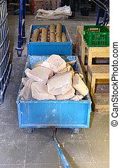 usine eau, production, camion, savon