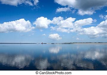 usine hydroélectrique, -, lac artificiel