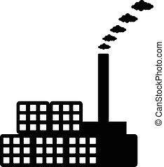 usine, icône