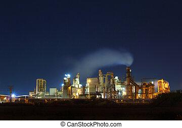 usine, nuit