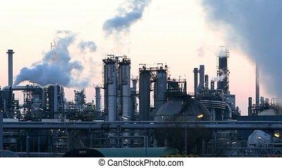 usine pétrochimique, huile, refiery, mo