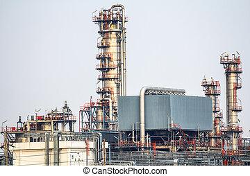 usine pétrochimique, industriel