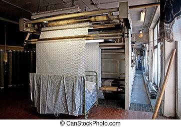 usine textile, impression, industry: