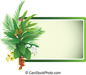 usine tropicale, fond