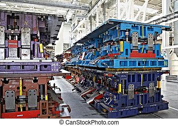 usine voiture, compostage, lignes