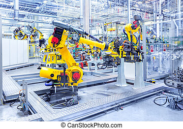 usine voiture, robots