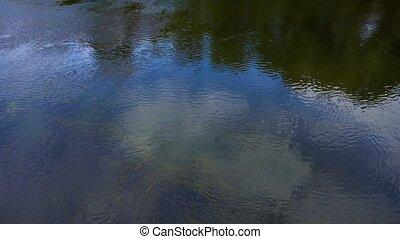 usines eau, rivière, sous