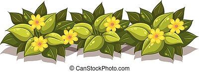 usines, ensemble, fleur