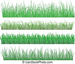 usines, herbe, vert