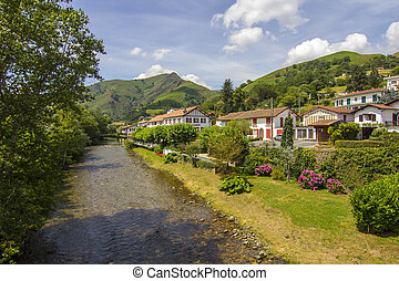 usines, pittoresque, beaucoup, france, village, rivière, sud