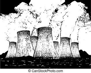 usines, puissance, nucléaire