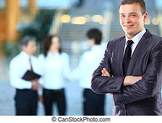 usinessman with coworkers - Businessman with coworkers.