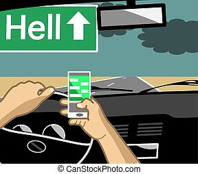 Using a phone while driving can cause accidents and can be fatal.