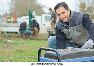 Using a portable power generator
