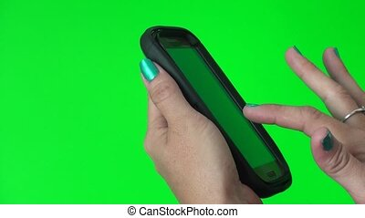 Using a smart phone on green screen