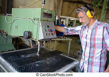 using industrial machinery