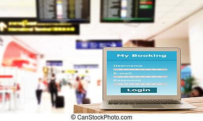 Using laptop booking
