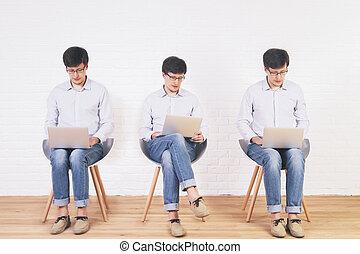 Using laptop collage