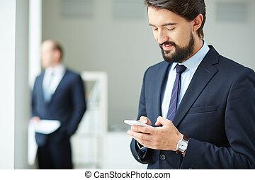 Using mobile telephone