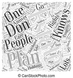 Using Our Legal Rights for Estate Planning Word Cloud Concept