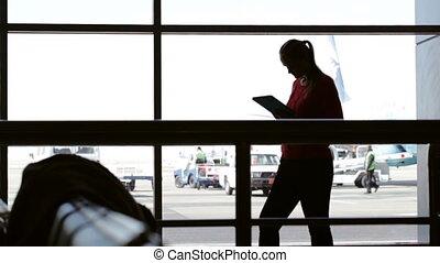 Using pad at the airport