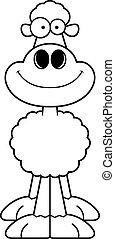 usmívaní, karikatura, sheep