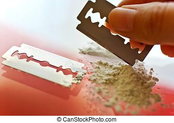 uso, -, droga, narcóticos, abuso, cocaína