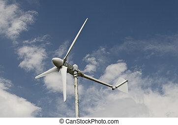 uso, energia, turbina, vento, casa, rinnovabile