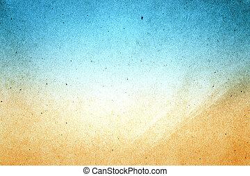 uso, mar, maio, abstratos, reciclado, papel, fundo, praia, textura