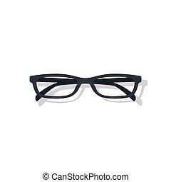 uso ojo, illustration., vector, accesorio, marco, anteojos, ...