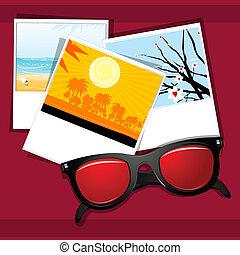 uso, ojo, verano, natural, cuadros