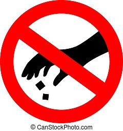 uso, pattumiera, favore, segno, vettore, nolittering