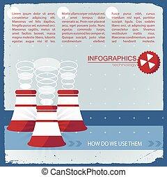 uso, tecnologia, infographics