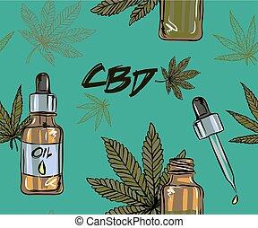 usos, cannabis, médico, óleo, saúde, cbd, infographics,...