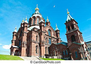 Uspenski Orthodox Church in Helsinki, Finland - view of ...