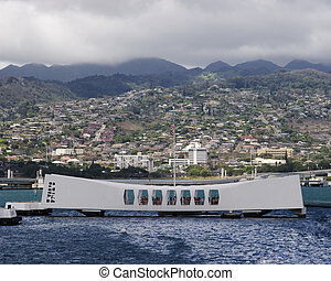 USS Arizona Memorial at Pearl Harbor Hawaii