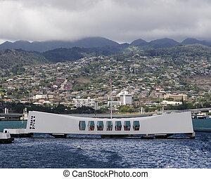 USS Arizona Memorial at Pearl Harbor Hawaii