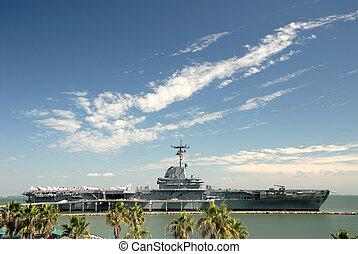 USS Lexington in Corpus Christi, Texas USA