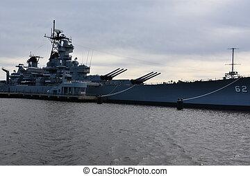 USS New Jersey (BB-62) in Camden, New Jersey, USA
