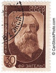 USSR-CIRCA 1945: stamp printed in USSR (now is Russia), 125...